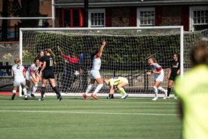 Women's soccer fends off Elon to remain perfect in conference play