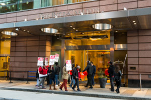 Marriott hotel employees on strike for better wages and benefits