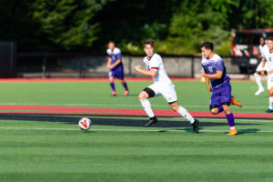 Men's soccer takes down local rival, but falls in conference play