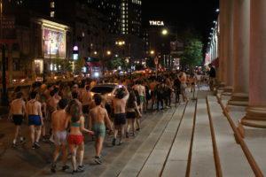Northeastern students strip for Annual Underwear Run