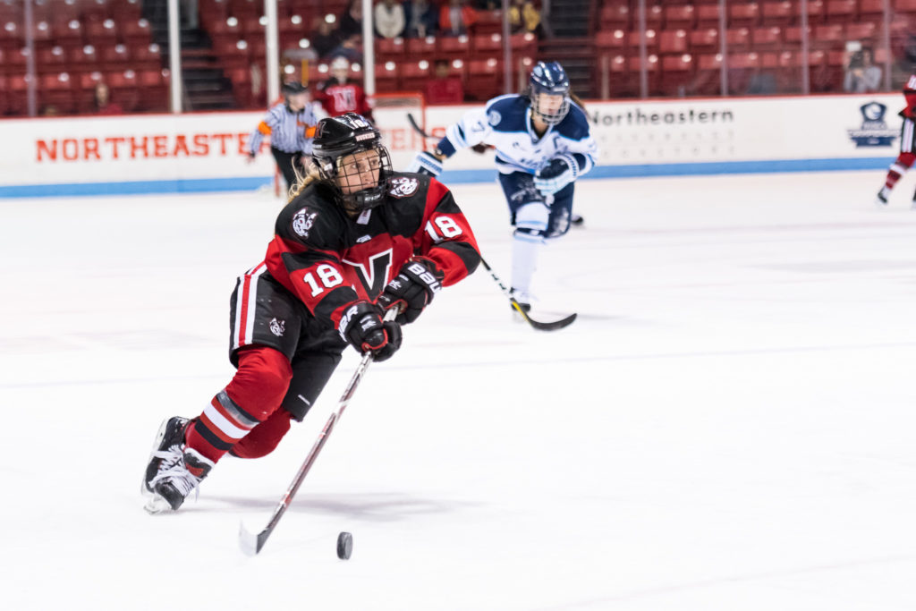 Women's ice hockey closes out preseason with 3-0 win over Concordia University