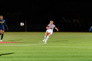 Women's soccer home winning streak comes to an end