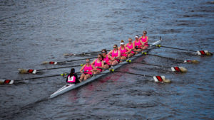 Northeastern rowing competes at the Head of the Charles Regatta