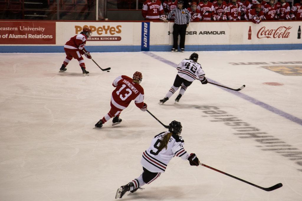 Northeastern women's hockey stays unbeaten in Hockey East with wins over