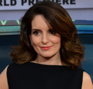 Writer and comedian Tina Fey shares her experiences with students for Homecoming Week