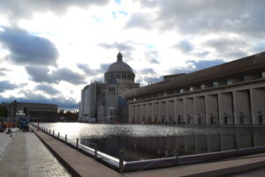 Reflecting pool reopens at the Christian Science Plaza