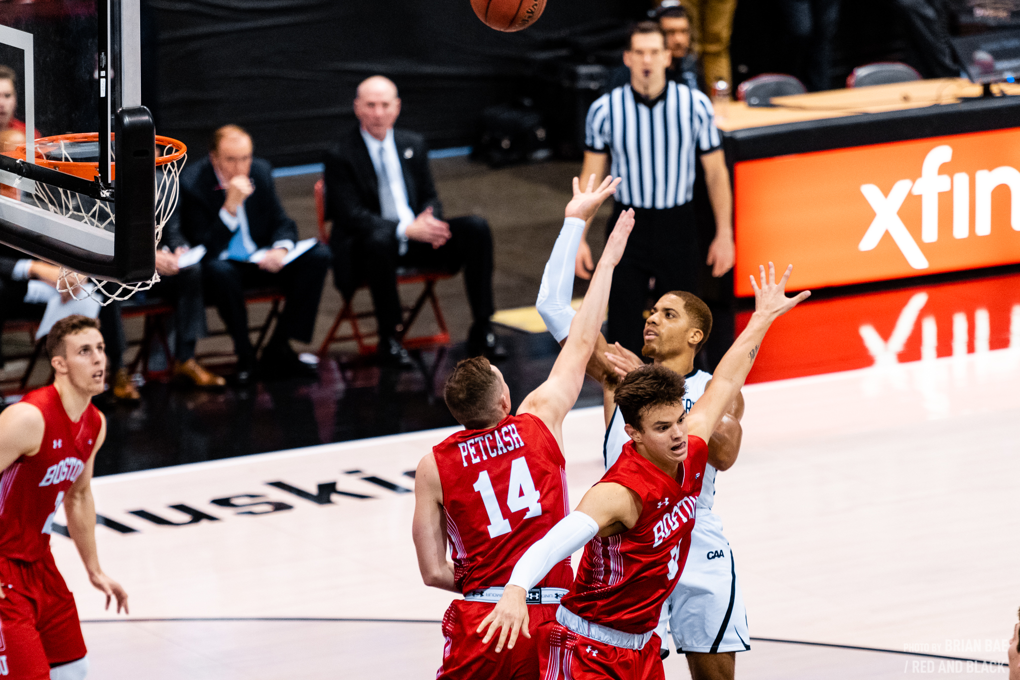 Junior guard Donnell Gresham puts up a shot in a prior game against BU. / File photo by Brian Bae.