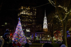 Boston celebrates the holiday season with tree lighting at the Common