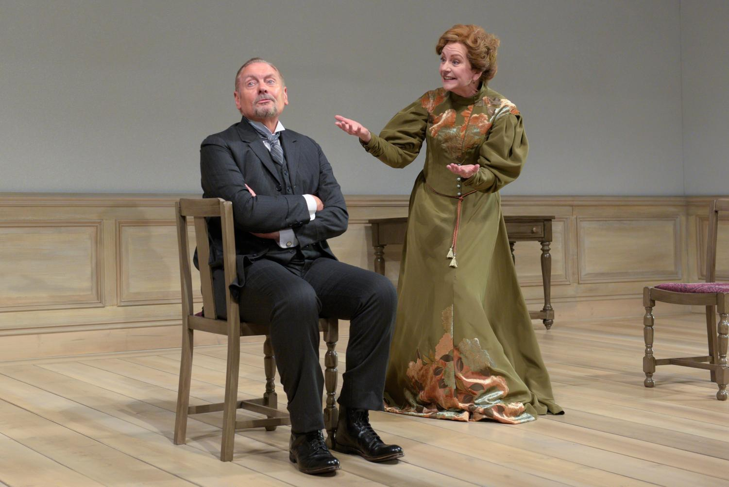 John Judd and Mary Beth Fisher perform in the Huntington Theatre Company's production of