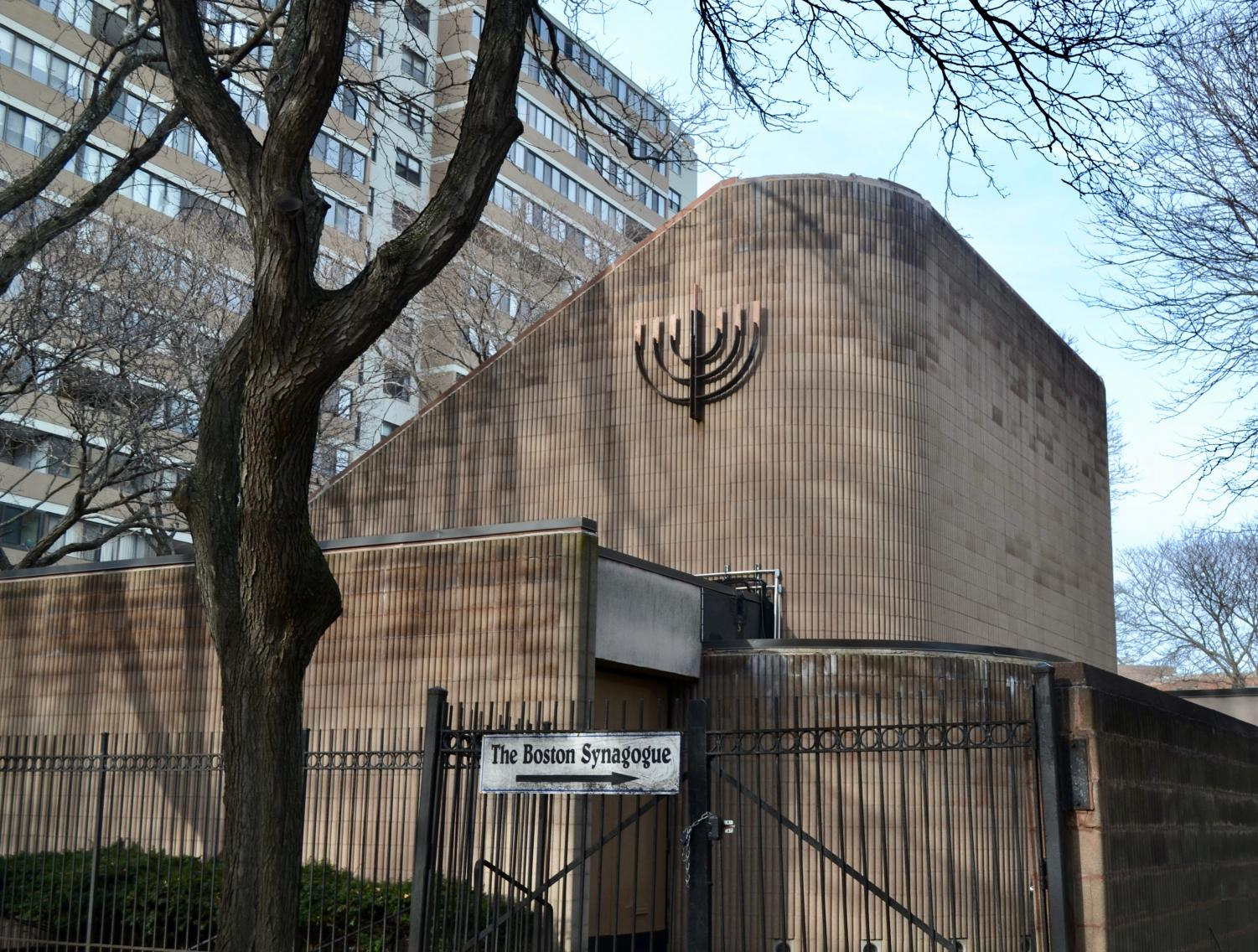 The Boston Synagogue, located on 55 Martha Road. The synagogue has tightened its security due to concerns over rising anti-semitism.