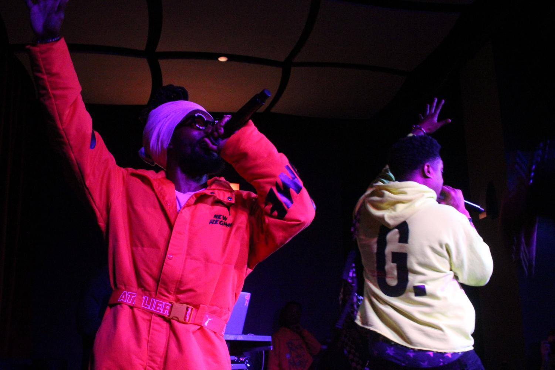 Hip hop duo EarthGang raps in AfterHours.