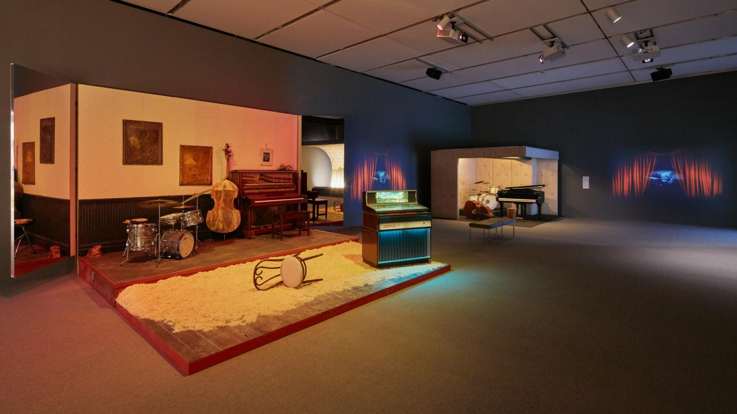 Jason Moran's installation is on display at the Institute of Contemporary Art until Jan. 21. / Photo courtesy Charles Mayer, Institute of Contemporary Art.