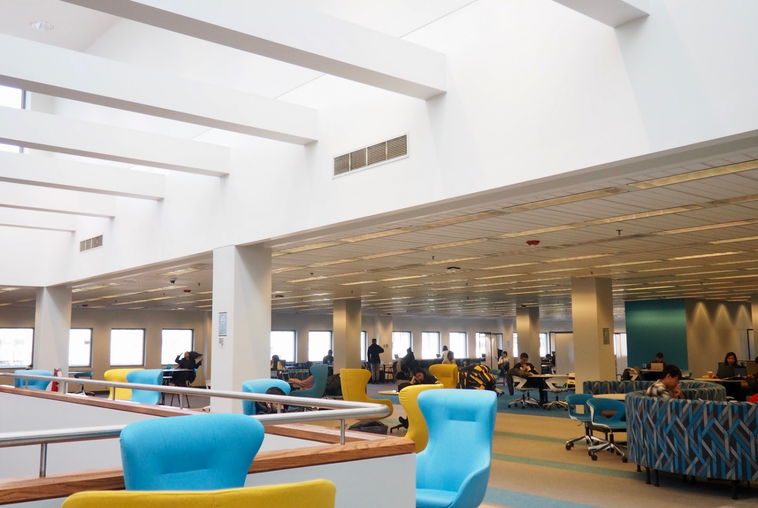The fourth floor of Snell Library underwent renovations resulting in new furniture and more.