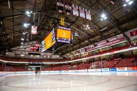 New 50-foot video board installed in Matthews Arena