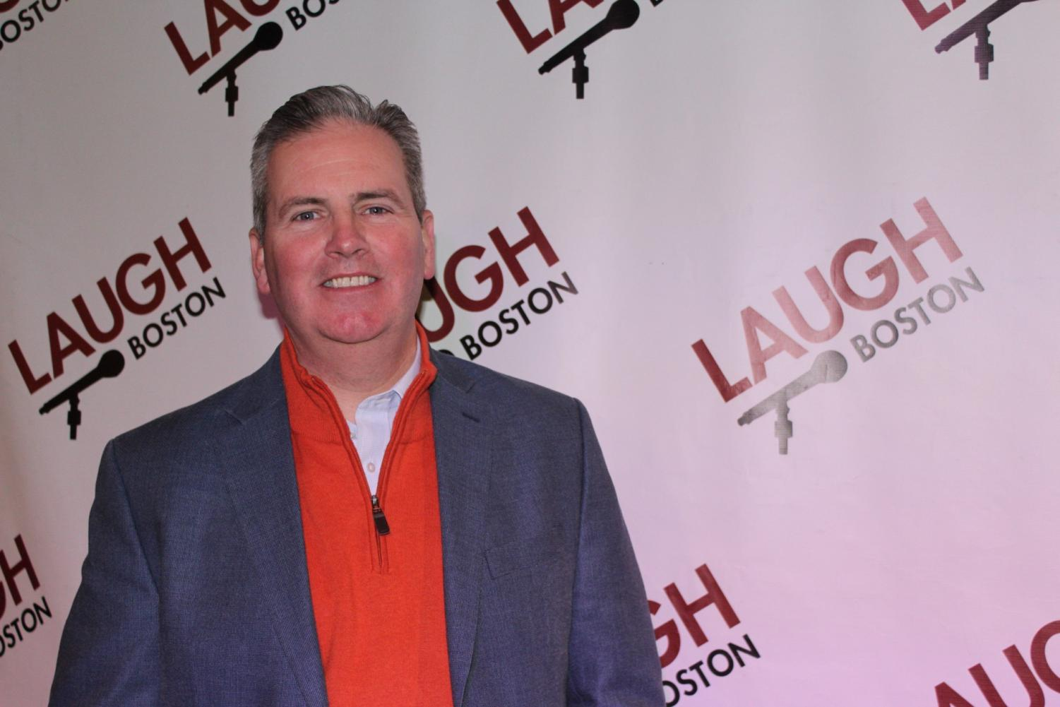 John Tobin at his venue Laugh Boston. Apart from owning comedy clubs, Tobin served on the city council and is Northeastern's VP of city and community affairs.
