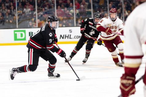 After a lifetime on the ice, Davies is a leader at NU