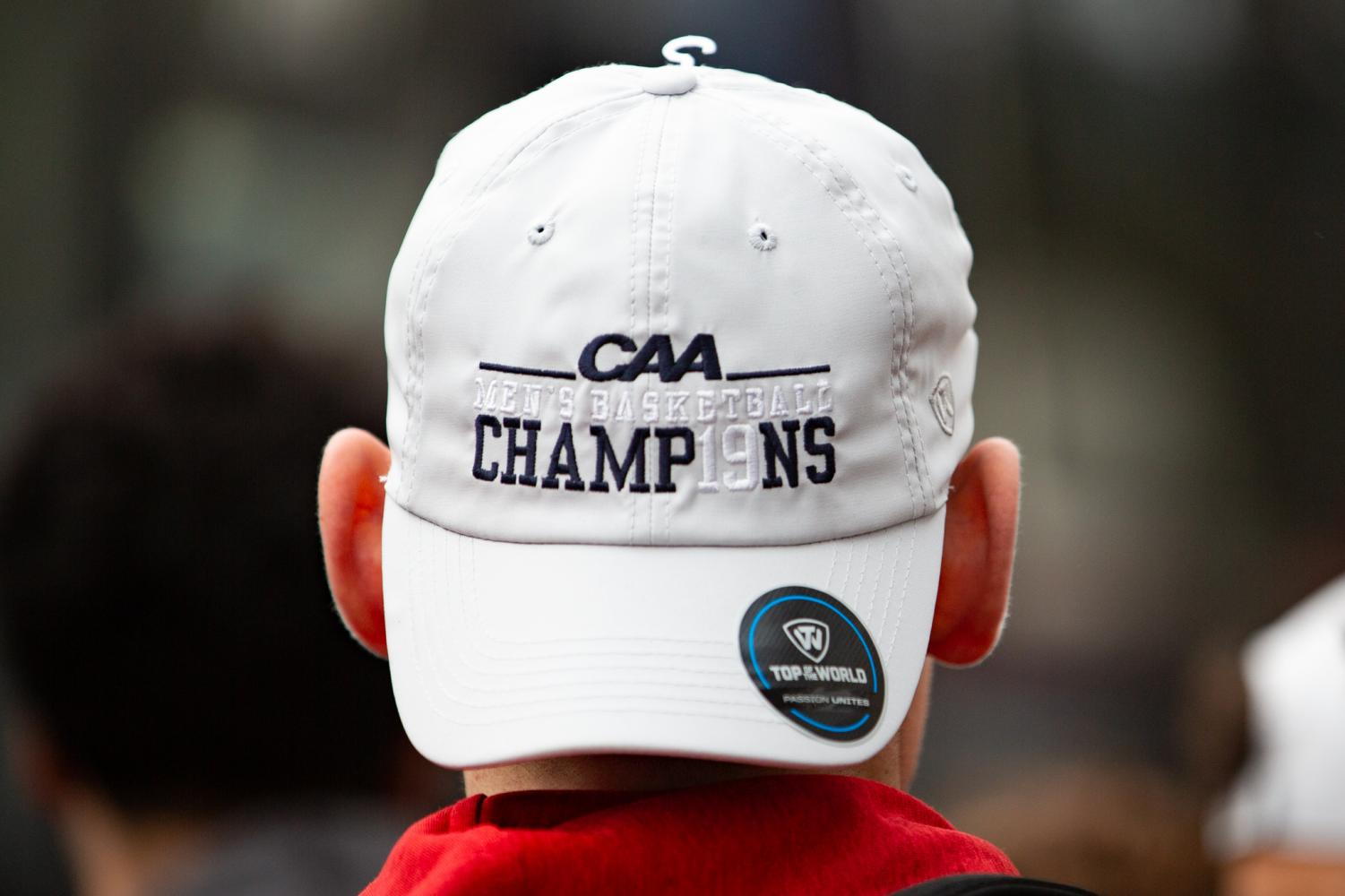 The+CAA+Champions+hat+was+shown+off+by+the+team+Wednesday.