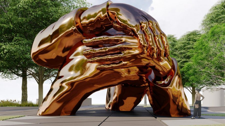 Titled+%22The+Embrace%2C%22+the+future+Boston+Common+memorial+is+designed+by+Hank+Willis+Thomas+and+the+MASS+Design+Group.