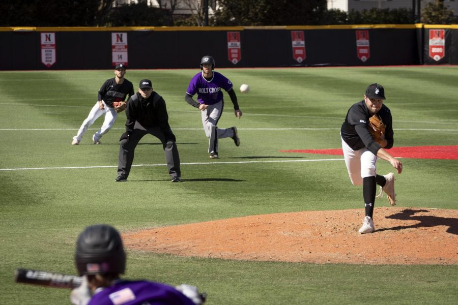 Baseball plays the second game of a doubleheader against Holy Cross Saturday, March 16, 2019 at Parsons Field.