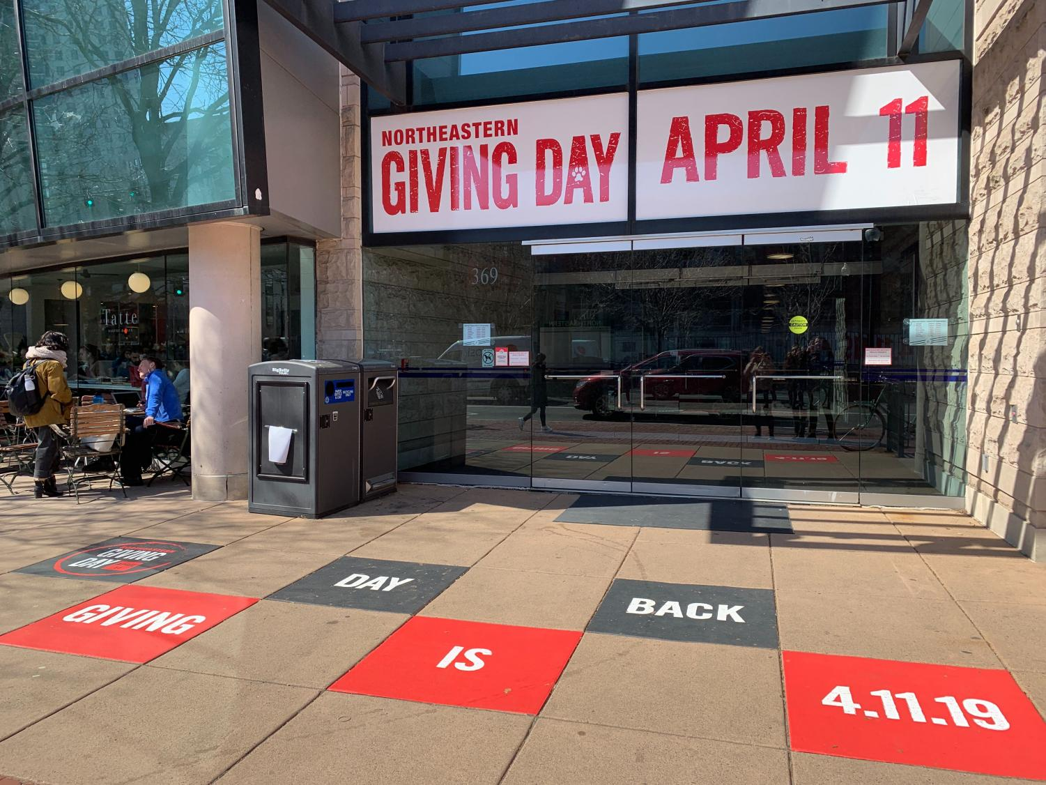Northeastern heavily advertised Giving Day, which took place April 11.