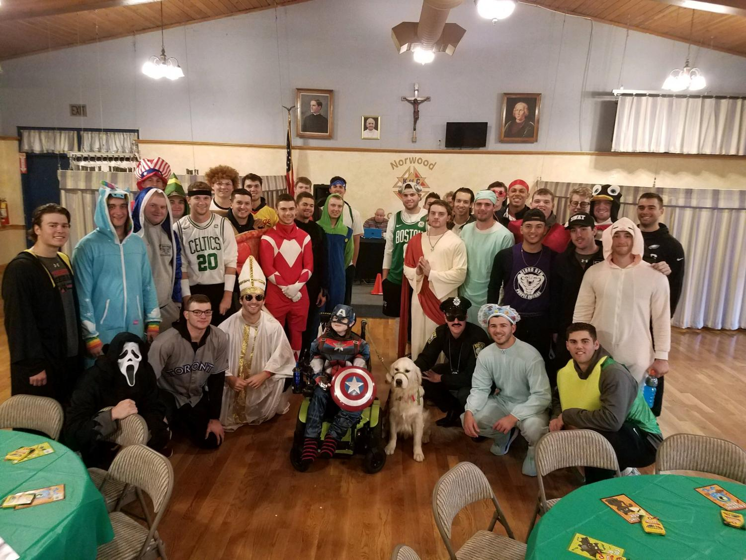 The Northeastern baseball team attends the 2018 Miles for Liam 5K Walk/Run on Oct. 31 as one of their 19 Ways events.