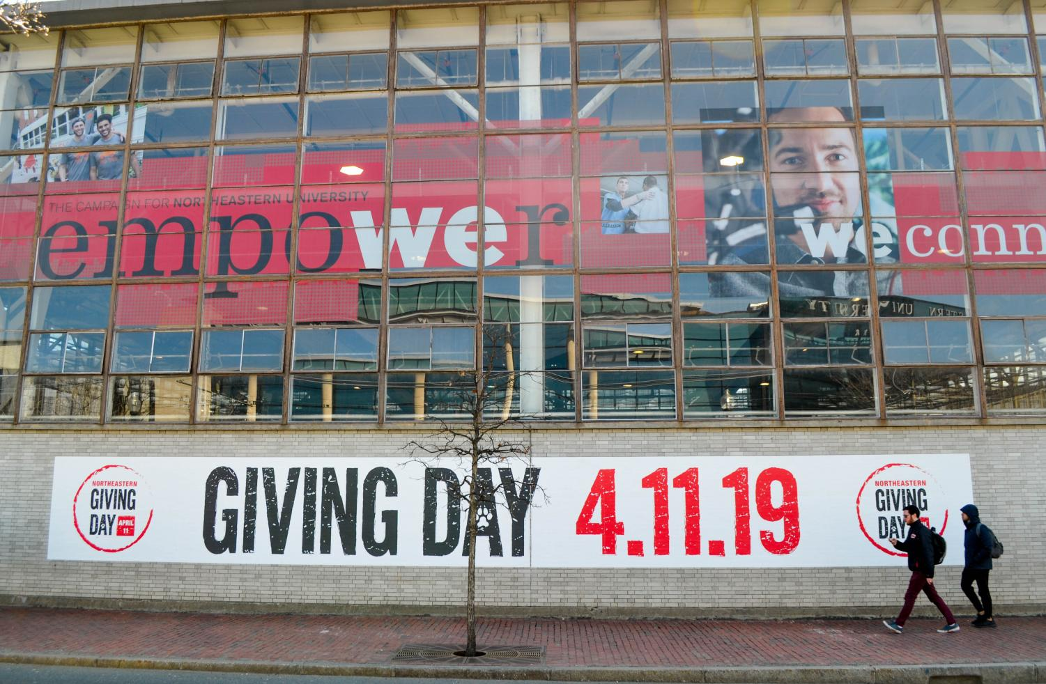 Giving Day is advertised as a day-long philanthropic initiative in which the Northeastern community is asked to