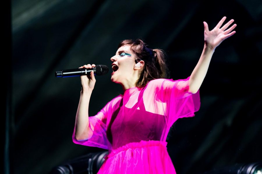 Lauren Mayberry of CHVRCHES delivers a soaring vocal performance.