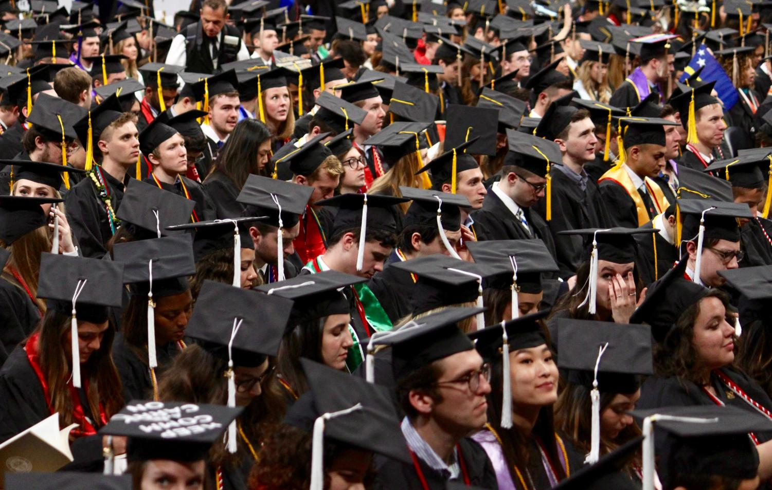 At the 117th commencement in Northeastern's history, 4,000 students received diplomas.
