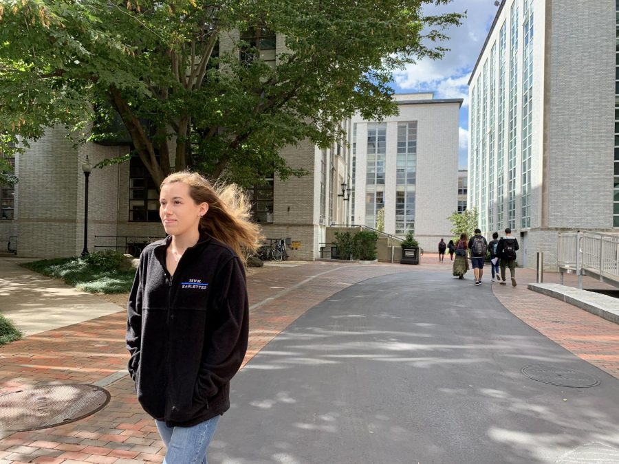 Kaitlyn Moleti, a first-year behavioral neuroscience major and East Village resident, said she has to walk through the wind tunnel on St. Botolph Street every day.