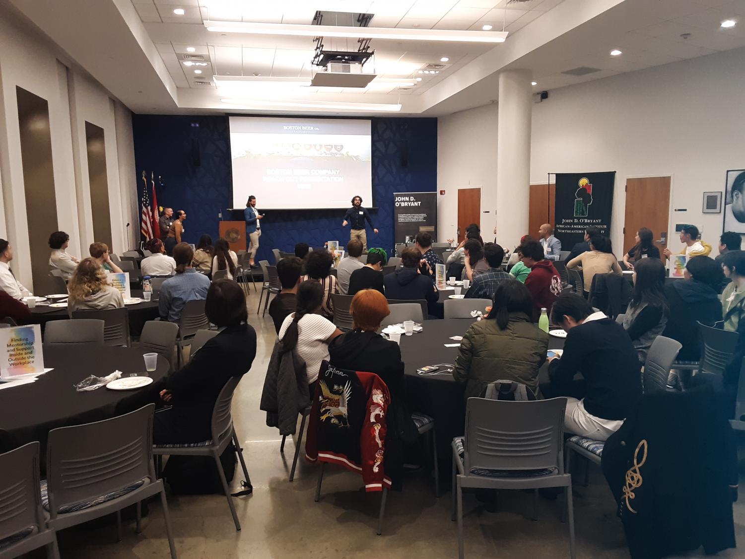 Members of the Northeastern community gathered for the sixth Reach(Out) LGBTQA+ Career Conference on Oct. 26.