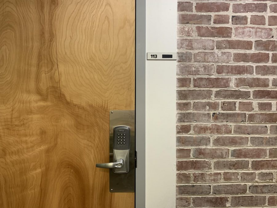 These kind of locking mechanisms are being added to more doors around campus.
