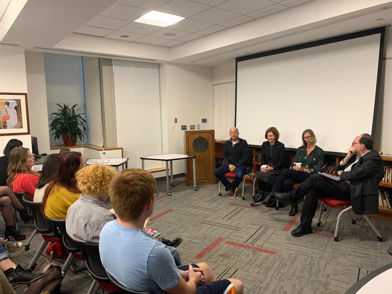 New York Times journalists spoke to NU students last week.
