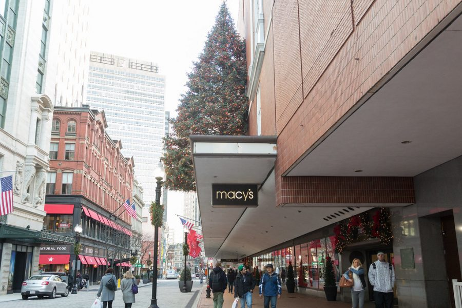 Shops in Downtown Crossing such as Macy's, Primark, T.J. Maxx and Old Navy offer affordable options for the winter weather.