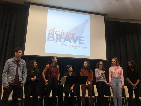 This is My Brave's cast performs at Northeastern Oct. 28 as part of their college tour.