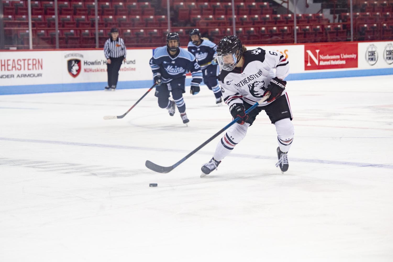 Freshman forward Katy Knoll secured the game-winning goal against Maine.