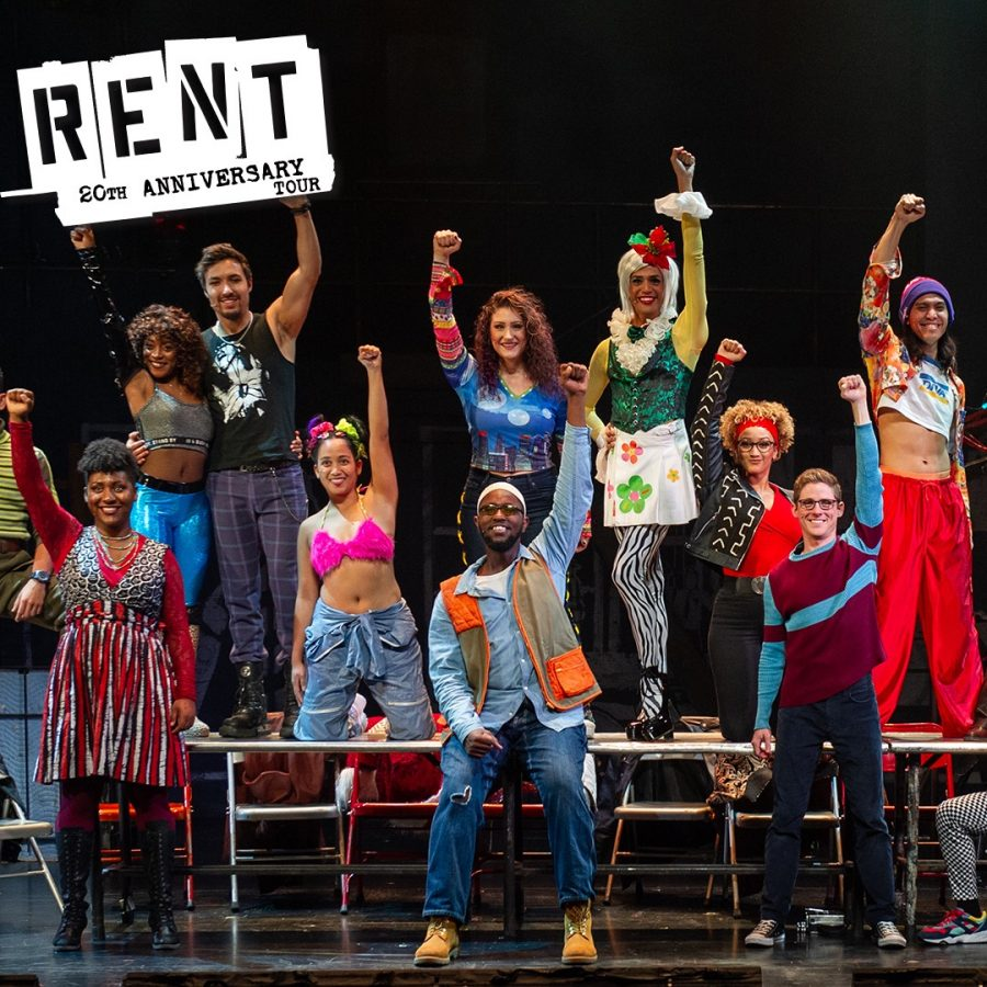 Cast+members+of+the+Shubert+Theatre%27s+production+of+%22RENT%22+pose+for+a+photo.