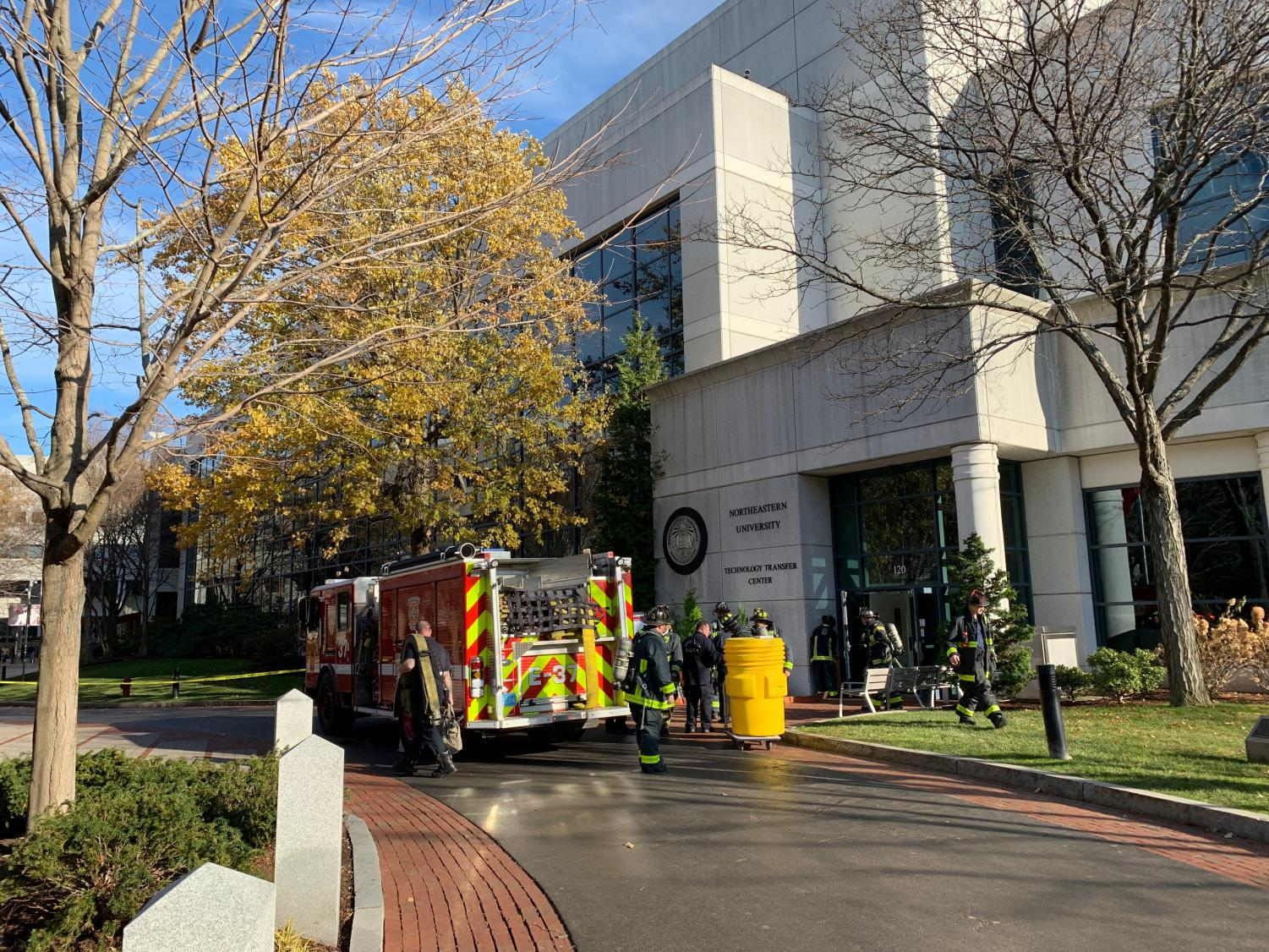 """An alert was sent to all NU students at 1:08 p.m. informing students of a """"potential hazardous materials incident in Egan Research Building"""" and instructing them to avoid the area."""