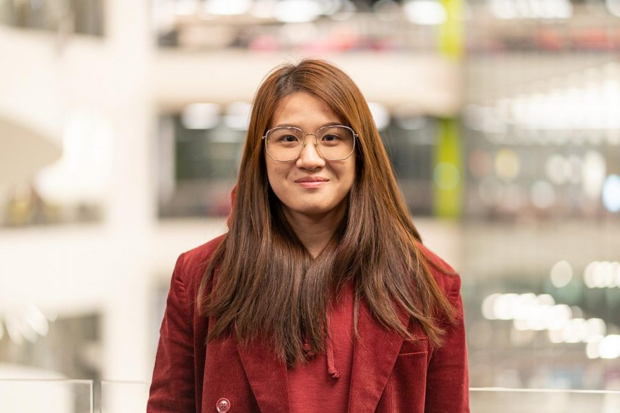 Weijia Gaom is a first-year international business major from Fujian, China.