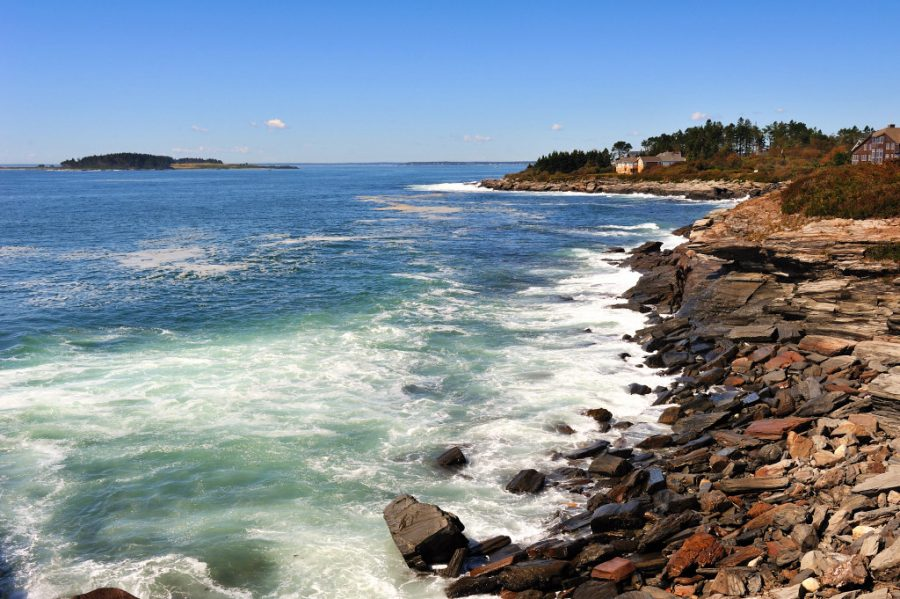 Portland, Maine is a coastal town about 108 miles north of Boston.