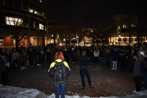 The Northeastern community responded swiftly to the situation, with over 100 students and local activists showing up on Centennial Common Tuesday night to protest the deportation.