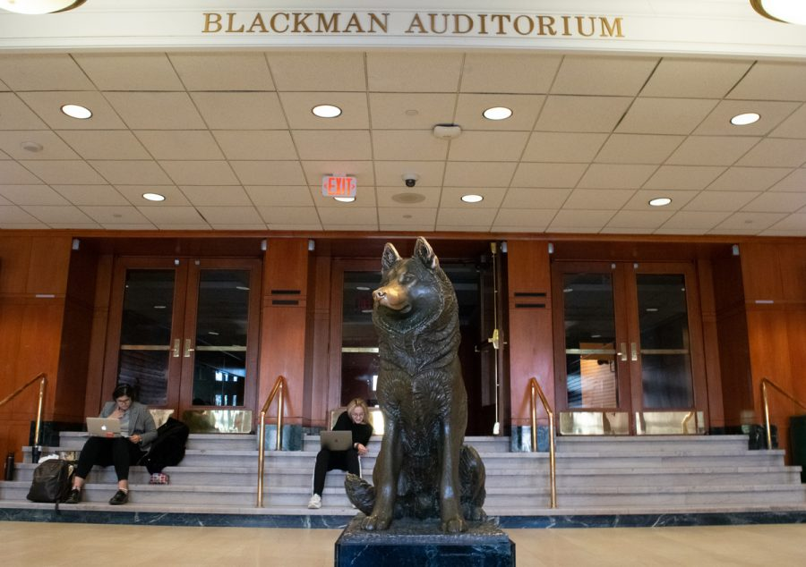 Located in Ell Hall, Blackman Auditorium is the largest space on campus that students can book for events, seating 988.
