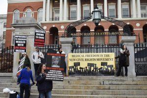 Anti-vaxxers protest bills for required immunization