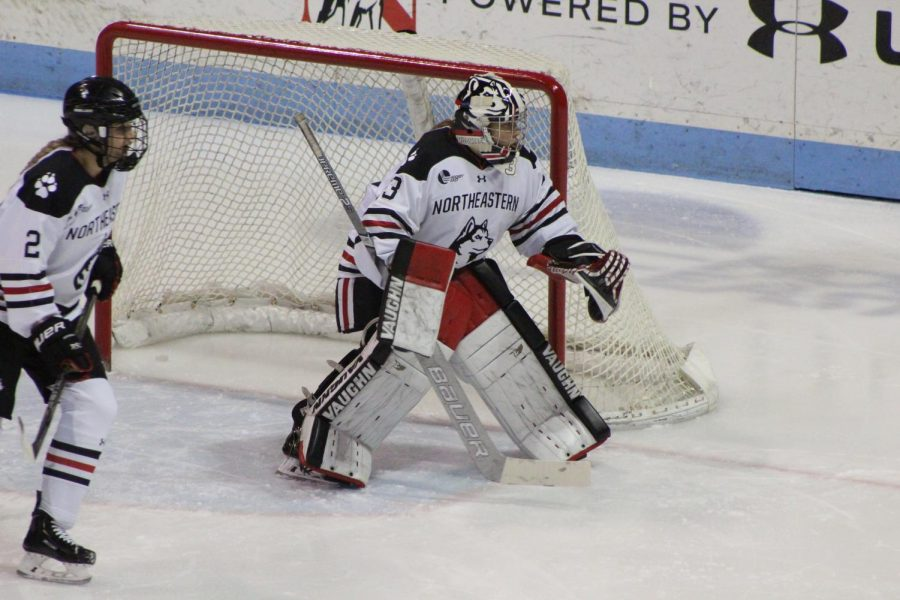 Junior goalie Aerin Frankel now has 19 career shutouts, just barely off from the NU all time record.
