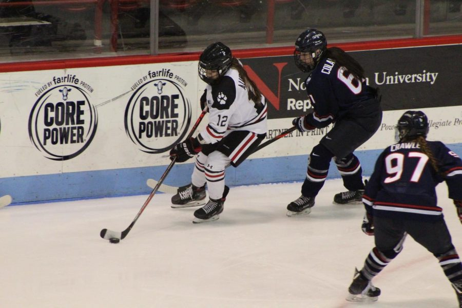 Chloé Aurard has been an offensive force for the Huskies this year and sits second on the team in points.