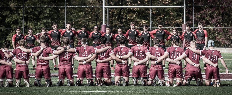 The Northeastern men's club rugby team's bond is as strong on the field as it is off the field.