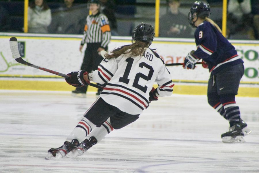 Aurard races down the ice. The French-born winger had a tremendous postseason, securing a spot on the All-Tournament team.