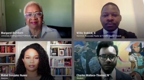 Judge Margaret Burnham hosts a Facebook Live discussion about restorative justice.