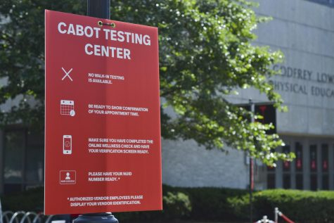 All Northeastern students will be tested at the Cabot Testing Center.