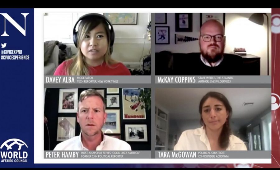 The+four+panelists+from+Thursday%27s+discussion.+