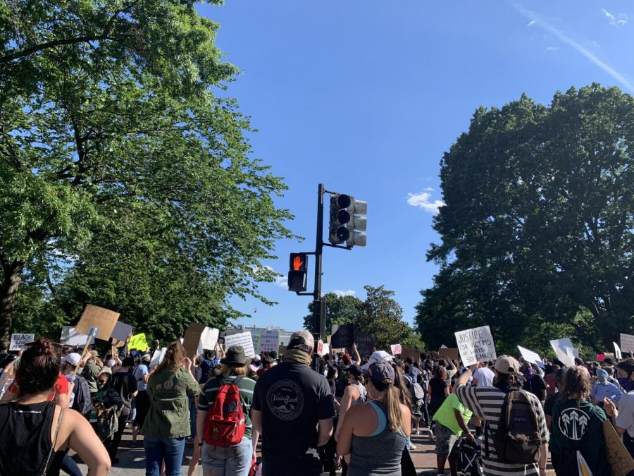 On June 1, protestors demanded justice outside of the White House.